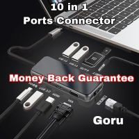 Usb Type C connector 10 in1 HDMI VGA Music charger Android Macbook pro