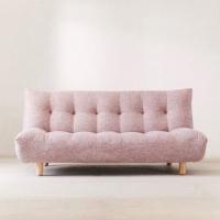 Sofa bed baby pink kaki kayu free ogkir jabodetabek