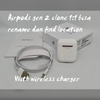 Apple Airpods Generasi 2 With Wireless Charging Clone 1:1 oem