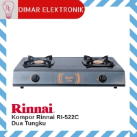 Kompor Gas Rinnai RI 522 C Kompor 2 Tungku Teflon