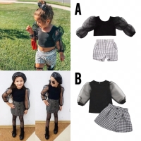 Setelan set baju anak organza import / set setelan rok anak import