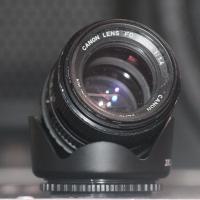 Lensa bokeh canon nd manual 50mm + adapter sony alpha