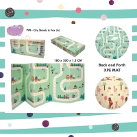 XPE Playmat lipat matras bayi folding reversible motif A