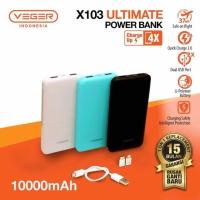 Powerbank VEGER ULTIMATE 10000Mah X103 SLIM 2A ORIGINAL 100%