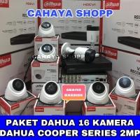 PAKET CCTV DAHUA 16 CHANNEL 16 KAMERA 2MP COOPER SERIES HDD 2TB