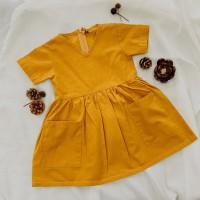 Gwyn dress in honey mustard