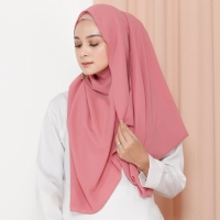 Hijab Ellysha VALIA EXCLUSIVE GEORGETTE ITALIANO SHAWL CHERRY PINK