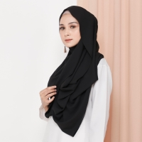 Hijab Ellysha VALIA EXCLUSIVE GEORGETTE ITALIANO SHAWL BLACK
