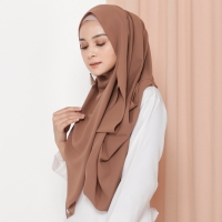 Hijab Ellysha VALIA EXCLUSIVE GEORGETTE ITALIANO SHAWL BROWN
