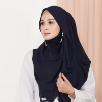 Hijab Ellysha VALIA EXCLUSIVE GEORGETTE ITALIANO SHAWL NAVY