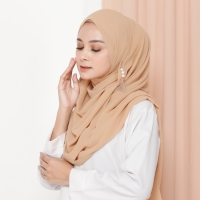 Hijab Ellysha ROMANSA LUXURY BARBIE SHAWL MOCCA