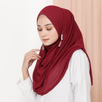 Hijab Ellysha ROMANSA LUXURY BARBIE SHAWL MAROON