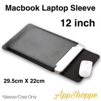 Tas Macbook Laptop Sleeve Case PU Leather ELEGANT SERIES 12 inch