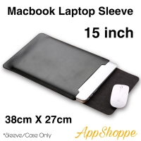 Tas Macbook Laptop Sleeve Case PU Leather ELEGANT SERIES 15 inch