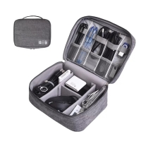 TRAVEL POUCH ORGANIZER CABLE GADGET BAG TAS KABEL CHARGER travel