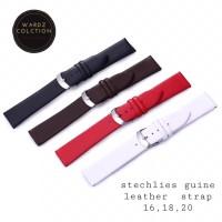 watches leather strap 16mm -strap tali jam tangan wanita 18mm 20mm - Merah, 16MM