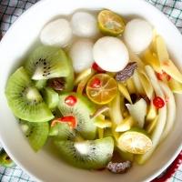 Asinan Buah Ahma isi kiwi, rambutan, mangga (jumbo cup)