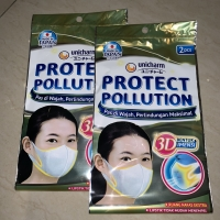 UNICHARM Masker Protect Pollution 3D Made in Japan (2pcs)