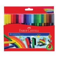 Spidol Faber Castell Isi 20 Warna Faber Castell Connector Pen 20