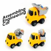 Mainan mobil mini truk konstruksi high quality car (3 pcs)