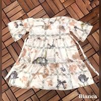 Bianca Ruffle Dress Anak motif RIAMIRANDA