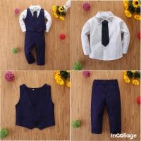 Setelan Anak laki-laki 4in1 Vest Black Import (S25D)