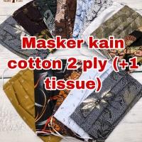 Masker mulut face mask full katun cotton / rayon / hijab cuci ulang
