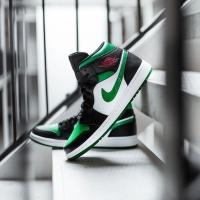 Nike Air Jordan Mid 1 Pine Green Toe ORIGINAL