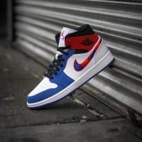 Nike Air Jordan Mid 1 Multicolor Swoosh ORIGINAL