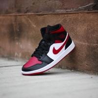 Nike Air Jordan Mid 1 Bred Toe ORIGINAL
