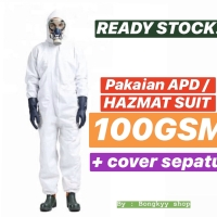 Disposable Breathable Coverall / Hazmat Suit APD Medis WATERPROOF 100G