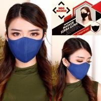 Indo Masker Kain Warna Biru