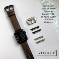Strap Apple Watch iWatch IWO Leather Tebal Size 22 24mm 42mm 38mm