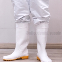 Sepatu safety boots medis putih tinggi