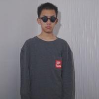 Uniqlo Pocket Logo Crewneck Sweatshirt Charcoal Grey