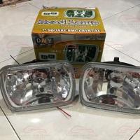 Headlamp head lamp lampu mobil kotak persegi 7 inch crystal kristal