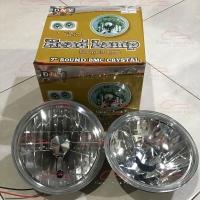 Headlamp head lamp lampu mobil motor bulat 7 inch crystal kristal