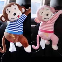 Tempat tisu gantung tempat tisu mobil Kotak Tissue Boneka monyet