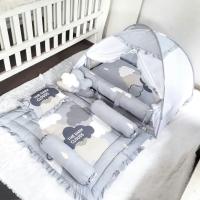 Babynest bayi-matras bayi-kasur bayi-bedding set bayi-dark cloud