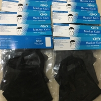 Masker kain Premium Rider - Ready Stock warna HITAM