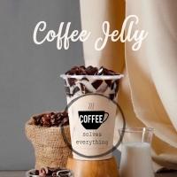 Coffee Jelly Topping | Agar Agar Jeli Kopi | Topping Minuman | 3,3 Kg