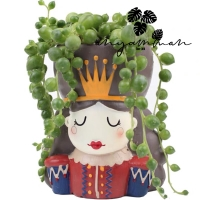 Pot Tanaman Kaktus Keramik Ratu/Succulent Plant Queen/Pot Keramik Lucu