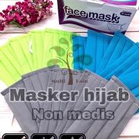 Masker hijab face mask spunbun double ply 1 box 20 pcs