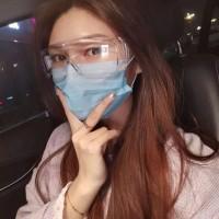safety google kacamata pelindung virus dan skrineer masker hijab isi 5