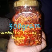 Teri Medan kacang/Petai/kentang/tempe Balado merah /Hijau