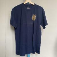Kaos Vintage Pria Merk BVD Gecko Warna Biru Navy