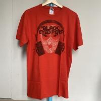 Kaos Vintage Pria Merk Gildan BLACK EYES PEAS Warna Merah