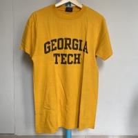 Kaos Vintage Pria GEORGIA TECH Warna Kuning