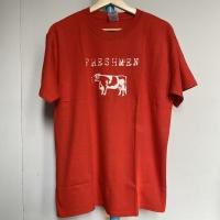 Kaos Vintage Pria Merk Gildan FRESHMEN Warna Merah