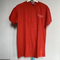 Kaos Vintage Pria Merk Gildan AQUARIUS CASINO RESORT Warna Merah